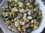 Салат с фасолью и кукурузой рецепт с фото