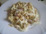 Салат с кальмарами, яйцом и кукурузой. Очень вкусный и простой рецепт