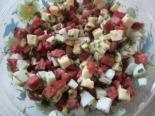 Салат с колбасой без майонеза
