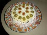 Салат с курицей и грибами слоями