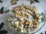 Салат с печенью трески и кукурузой на праздник