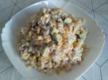 Салат с тунцом, огурцом и кукурузой на праздник