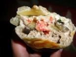Шаурма с баклажанами, мясом и плавленым сыром