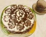 Шоколадный песочный торт со сметанным кремом