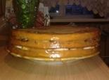 Шоколадный торт с бананами из готовых коржей