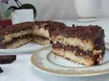 Шоколадный торт с ганашем и бисквитом