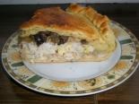 """Слоеный пирог с курицей, грибами и рисом """"Курник"""""""