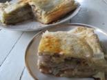 Слоеный пирог с тыквой и мясом