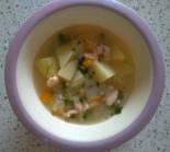 Суп из хребта лосося для детей до 1 года