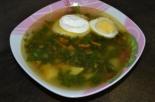 Суп из крапивы с вареным яйцом