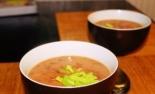 Суп-пюре из фасоли с беконом