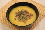 Суп-пюре из кабачков с мясом
