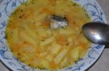 Суп с чечевицей и рыбной консервой