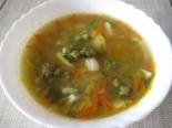 Суп с капустой брокколи и яйцом без мяса