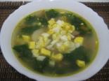 Суп с крапивой, яйцом и курицей