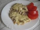 Свиные отбивные с грибами и сыром на сковороде