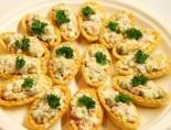 Тарталетки с оливье на праздничный стол