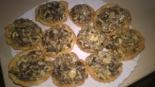 Тарталетки с сушеными грибами. Тесто для тарталеток
