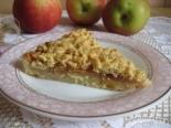 Тертый песочный пирог с яблоками
