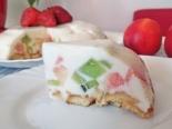 """Торт """"Битое стекло"""" с фруктами и печеньем"""