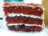 """Торт """"Красный бархат"""" с творожным кремом и смородиновым вареньем"""