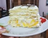 """Торт """"Молочная девочка"""" со сметанно-сливочным кремом и персиками"""