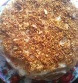 Торт «Наполеон Медовый» с медом и с заварным кремом пошаговый рецепт с фото