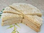 "Торт ""Рафаэлло"" с творогом"