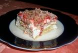 Торт из печенья и творога с желатином без выпечки