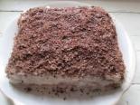 Торт на кефире с заварным кремом из манки