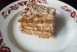 Торт на овсянке со сметанным кремом