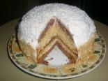 Торт на сгущенке со сметанным кремом и бананами