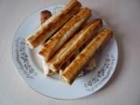 Трубочки из лаваша с сыром и яйцом