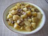 Тушеная картошка с маслятами