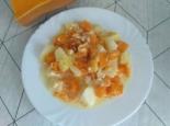 Тушеная картошка с тыквой в духовке