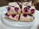 Творожный пирог с вишней на бисквитном тесте