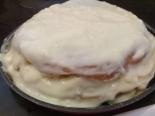 """Ванильный торт с кремом """"Пломбир"""" со сметаной"""