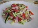Вкусный салат с ветчиной и свежими огурцами