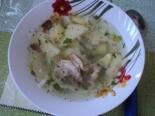 Вкусный суп на курином бульоне с лапшой и картофелем