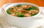 Калорийность грибного супа с курицей