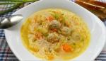 Калорийность супа с фрикадельками и лапшой