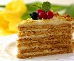 Новогодний торт Медовик