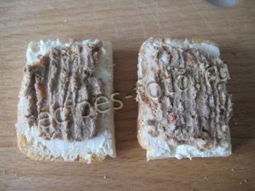 Бутерброды с паштетом из куриной печени - рецепт пошаговый с фото