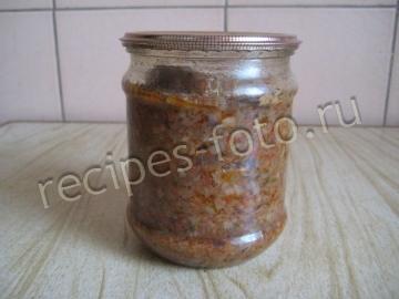 Грибная икра на зиму с помидорами и чесноком через мясорубку