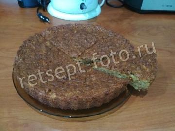 Кекс с тертыми яблоками