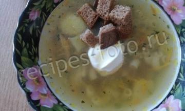 Куриный суп с макаронами и картошкой
