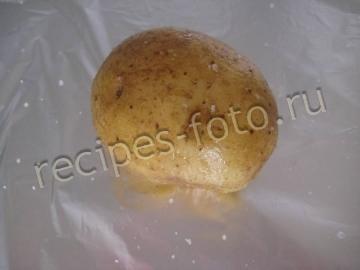 Запеченный в фольге картофель с соусом - рецепт пошаговый с фото