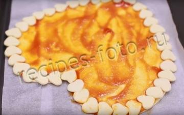 Пицца из слоеного теста с колбасой и грибами - рецепт пошаговый с фото