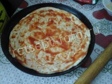 Пицца с грибами шампиньонами и фаршем - рецепт пошаговый с фото