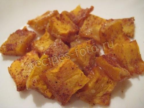 рецепт тыква с медом в духовке с корицей